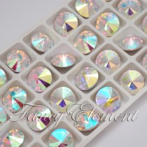 Glass Rivoli (1122) Clear AB (All Size) Fancy Stone