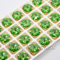Glass Rivoli (1122) Peridot Green (All Size) Fancy Stone