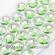 Glass Rivoli (3200) Peridot Green (All Size) Sew On Rhinestones