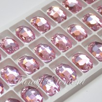 Glass Oval (3210) Light Rose Pink (All Size) Sew On Rhinestones