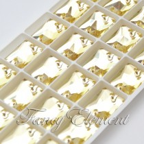 Glass Rectangle (3250) Citrine Yellow (All Size) Sew On Rhinestones