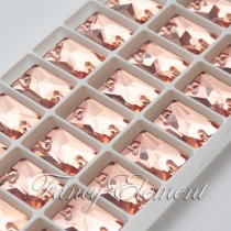 Glass Rectangle (3250) Light Peach (All Size) Sew On Rhinestones