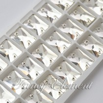 Glass Rectangle (3250) Clear (All Size) Sew On Rhinestones