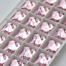 Glass Rectangle (3250) Light Rose Pink (All Size) Sew On Rhinestones