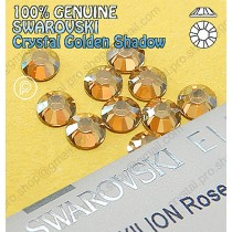 Genuine Swarovski (Hotfix/ No-Hotfix) Crystal Golden Shadow (GSHA) Flatback Rhinestones