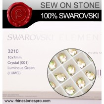 Swarovski Rivoli (3210) Crystal Luminous Green F (001 LUMG) Crystal