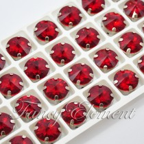 Glass Rivoli (1122) Siam Red (All Size) Fancy Stone