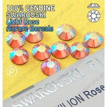 Genuine Swarovski (Hotfix/ No-Hotfix) AB Light Rose (223AB) Flatback Rhinestones