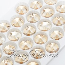Glass Rivoli (3200) Golden Shadow (All Size) Sew On Rhinestones