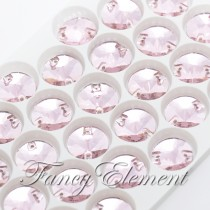 Glass Rivoli (3200) Light Rose Pink (All Size) Sew On Rhinestones
