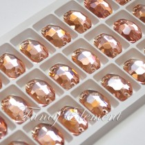 Glass Oval (3210) Light Peach (All Size) Sew On Rhinestones