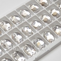 Glass Oval (3210) Clear (All Size) Sew On Rhinestones