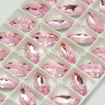 Glass Navette (4200) Light Rose Pink (All Size) Fancy Stone